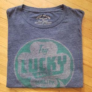 Lucky Brand Shamrock Graphic T-shirt,  Blue XXL